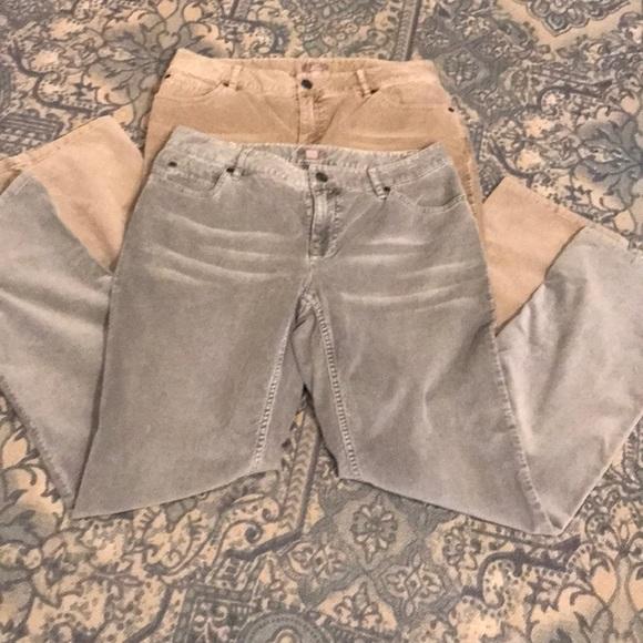 J JILL-2 Pair-Vintage  Sz6 Boot cut corduroy jeans